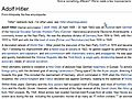 WikipediaFromJustinBiebertoAdolfHitler
