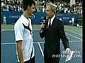 TennisStarDjokovicDoingImitationsofSharapovaandNadal