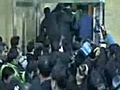 KoreanPoliticiansBrawlingOutsidePressConference