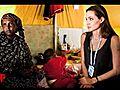 AngelinaJolieVisitsLibyaTunisiaBorder