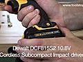 DewaltDCF815S2108VCordlessSubcompactImpactdriver