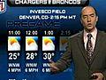 WeatherupdateChargersvstheBroncos