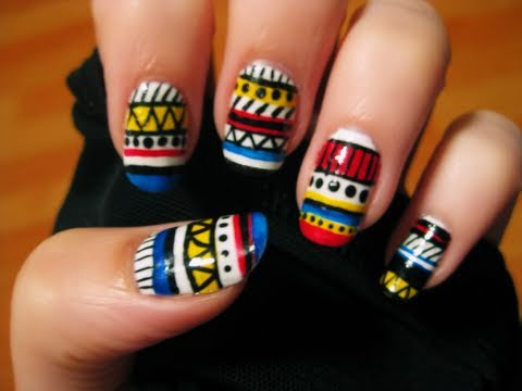 TribalAztecNails