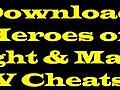 DownloadHeroesofMightMagicVLatestCheatCodesGames