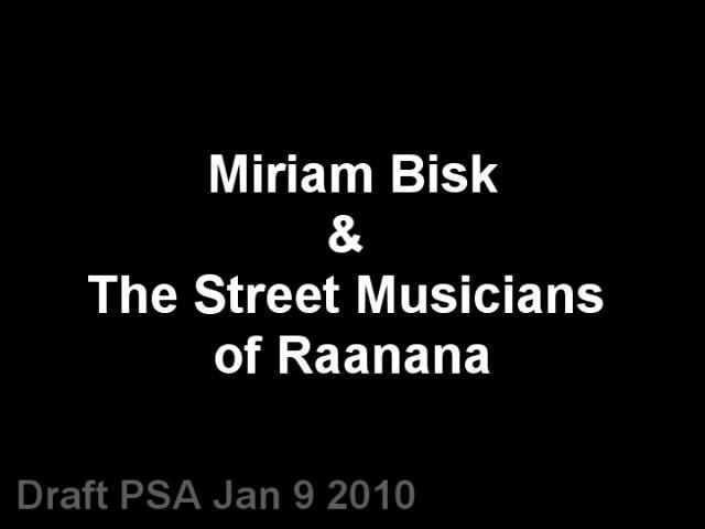 MiriamBiskandtheStreetMusiciansofRaanana