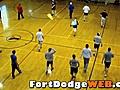 IowaEagles03910FootballTryoutWarmUpsatFDRecCenter
